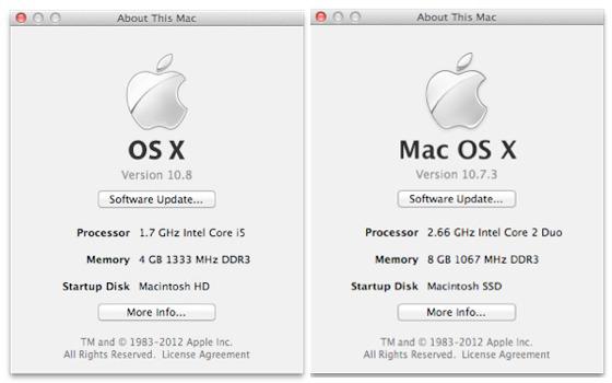 Mountain Lion - このMacについて