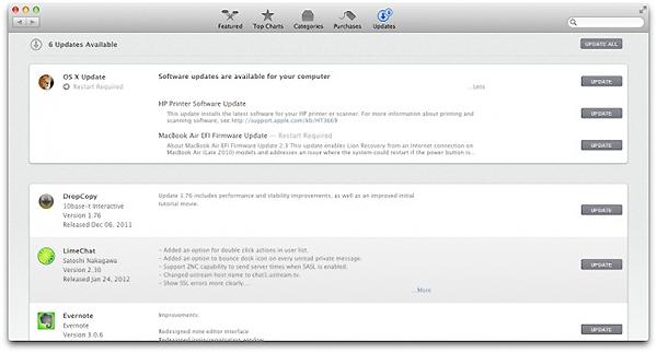 OS X Mountain Lion ソフトウェア・アップデート方法