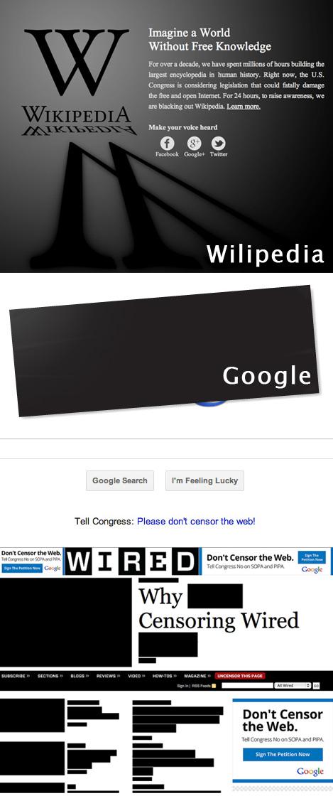 ウィキペディアが停止=ネットの海賊行為防止法案に抗議