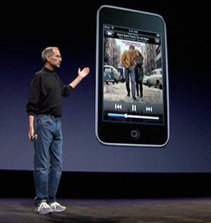 スティーブ・ジョブズCEO 新iPod発表