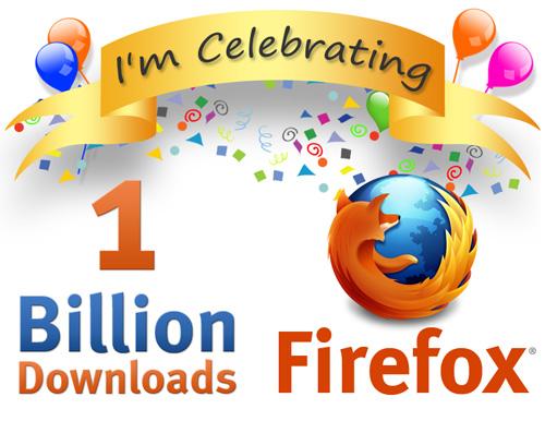 Firefox 10億ダウンロード達成