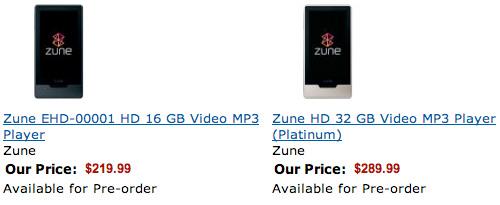 Zune HD 価格