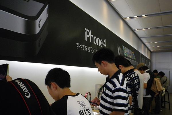iPhone 4 予約受付中止/Apple Store